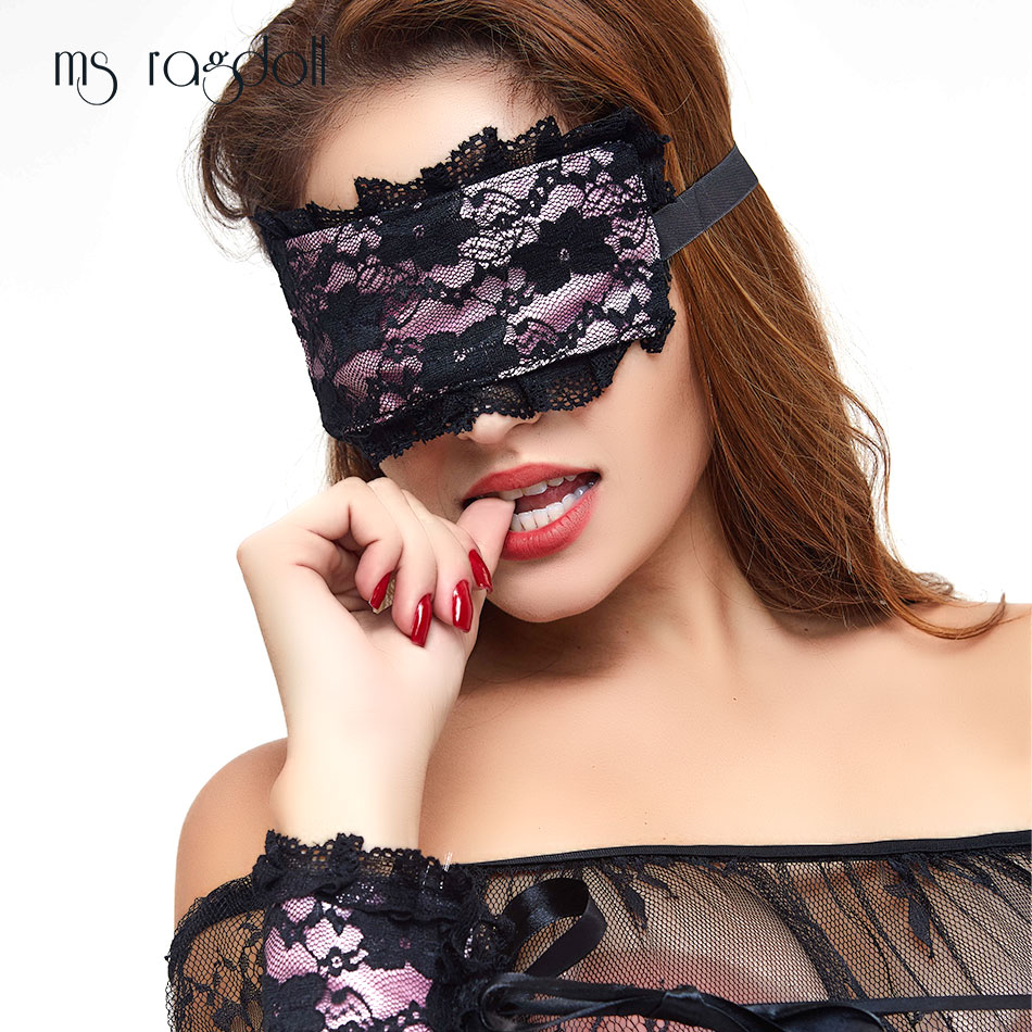 2019 Sexy Lingerie Exotic Apparel Hot Lace Mask Blindfolded Patch + Sex Handcuffs Sex Toys For Couple Erotic Lingerie Women