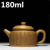 Teapots 180ml Chinese Teapot Special Design Ceramic Yixing Zisha Pots Handmade Purple Clay Mud Tea Pot