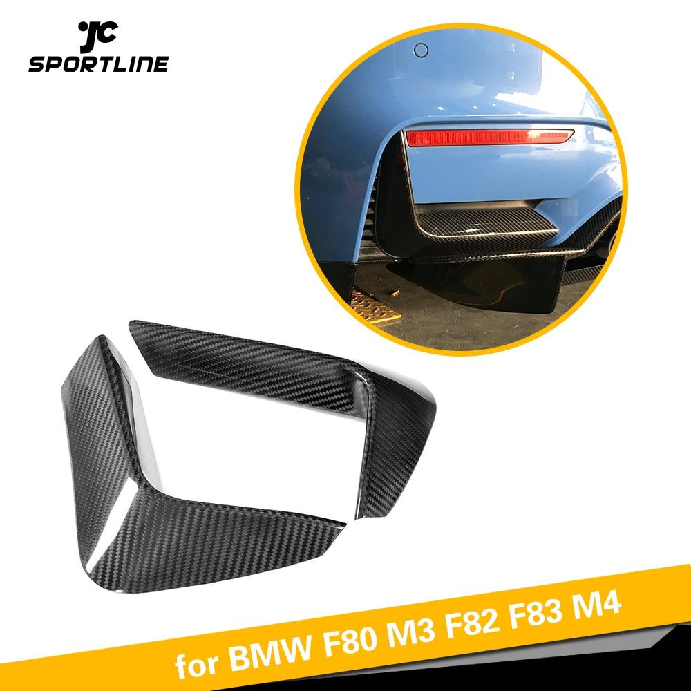 Fibra de carbono Difusor Traseiro Lip Divisores Spoiler Canto Inferior Capas para BMW F80 M3 F82 F83 M4 4 Porta 2 porta 2014-2019