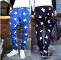 2014 de primavera y otoño pantalones delgados tendencia de punto pantalones de paracaídas de los hombres activos casuales pantalones emoji joggers pantalones moda martillo