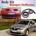 Deflector de Labios Lip Bumper Para Renault Symbol/Thalia/Citius Spoiler delantero Falda Para TopGear Amigos Tuning/Kit de Carrocería/tira