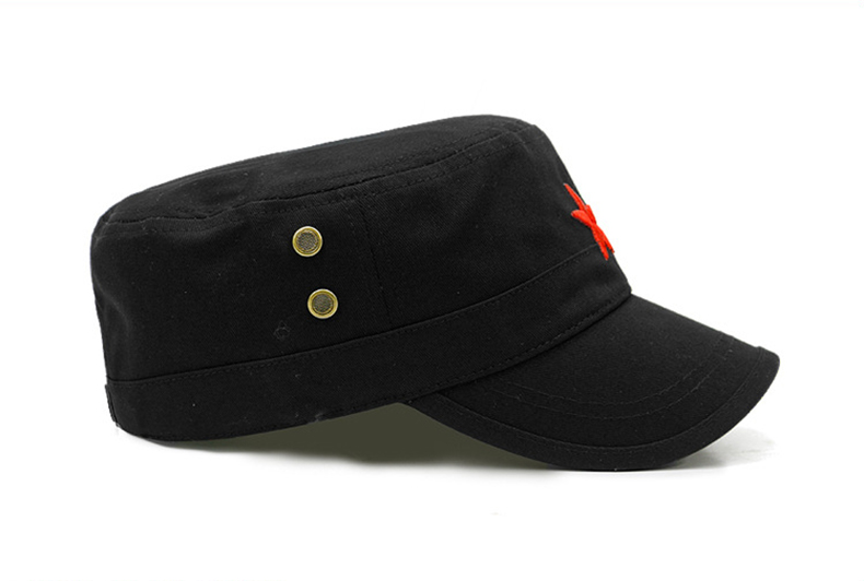 c785582df6a12 Moda Estrella Roja hombres gorra plana sombreros gorra militar Sol ...