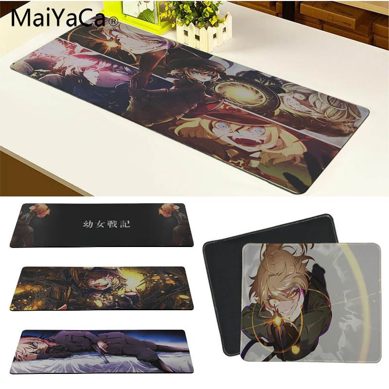 MaiYaCa Young Girls War Silicone Pad to Mouse Game Size for 30x80cm and 30x90cm Gaming Mousepads