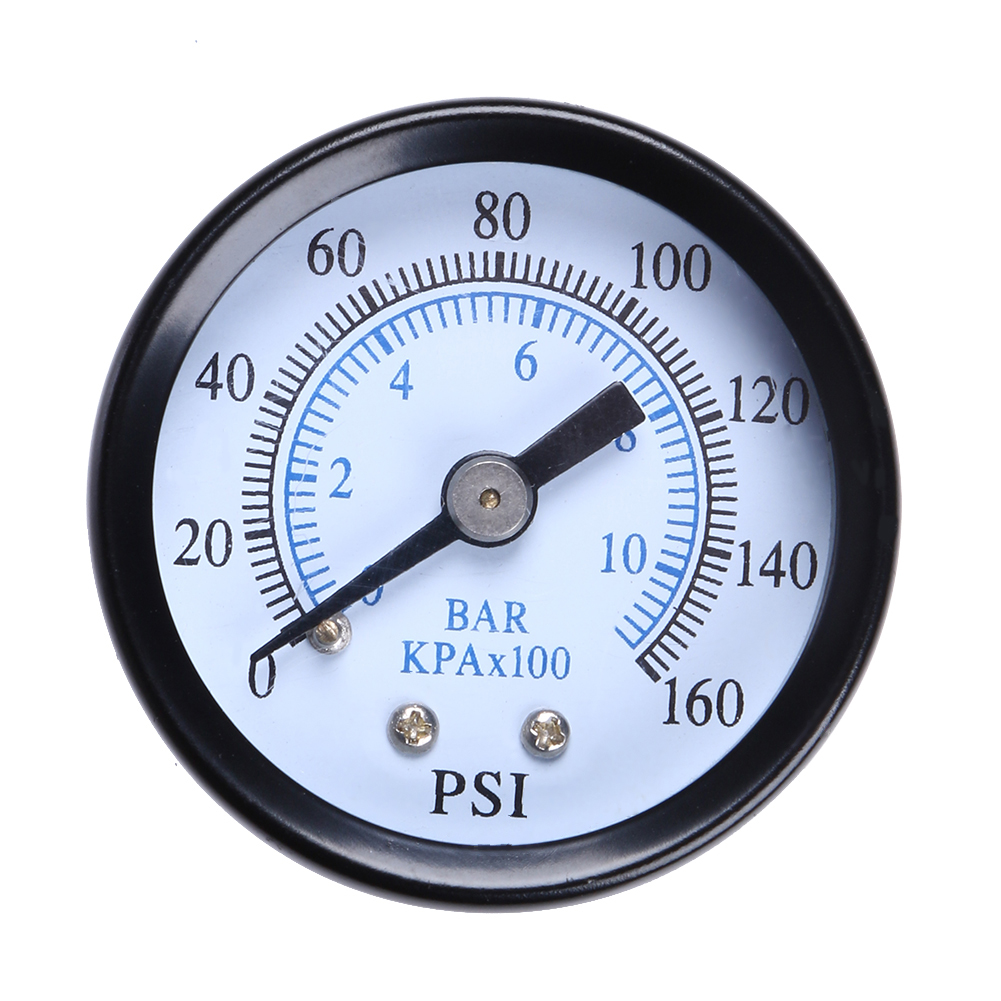 0 160psi Mini Pressure Gauge Metal 1/8 10Bar Compressor Compressed ...