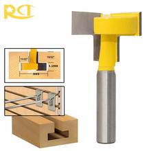 RCT T-Slot Milling Cutters 8mm Shank T-Track Router Bit Straight Edge For Wood Cutter Woodworking Tools