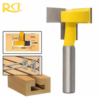 RCT T Slot Milling Cutters 8mm Shank T Track Router Bit Straight Edge For Wood Cutter
