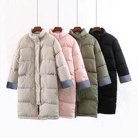 HEE GRAND Coat Female Winter 2018 Parkas Oversize Jacket Women Long Parka Ultralight Coat Snow Big Pocket Winter Coats WWM1707