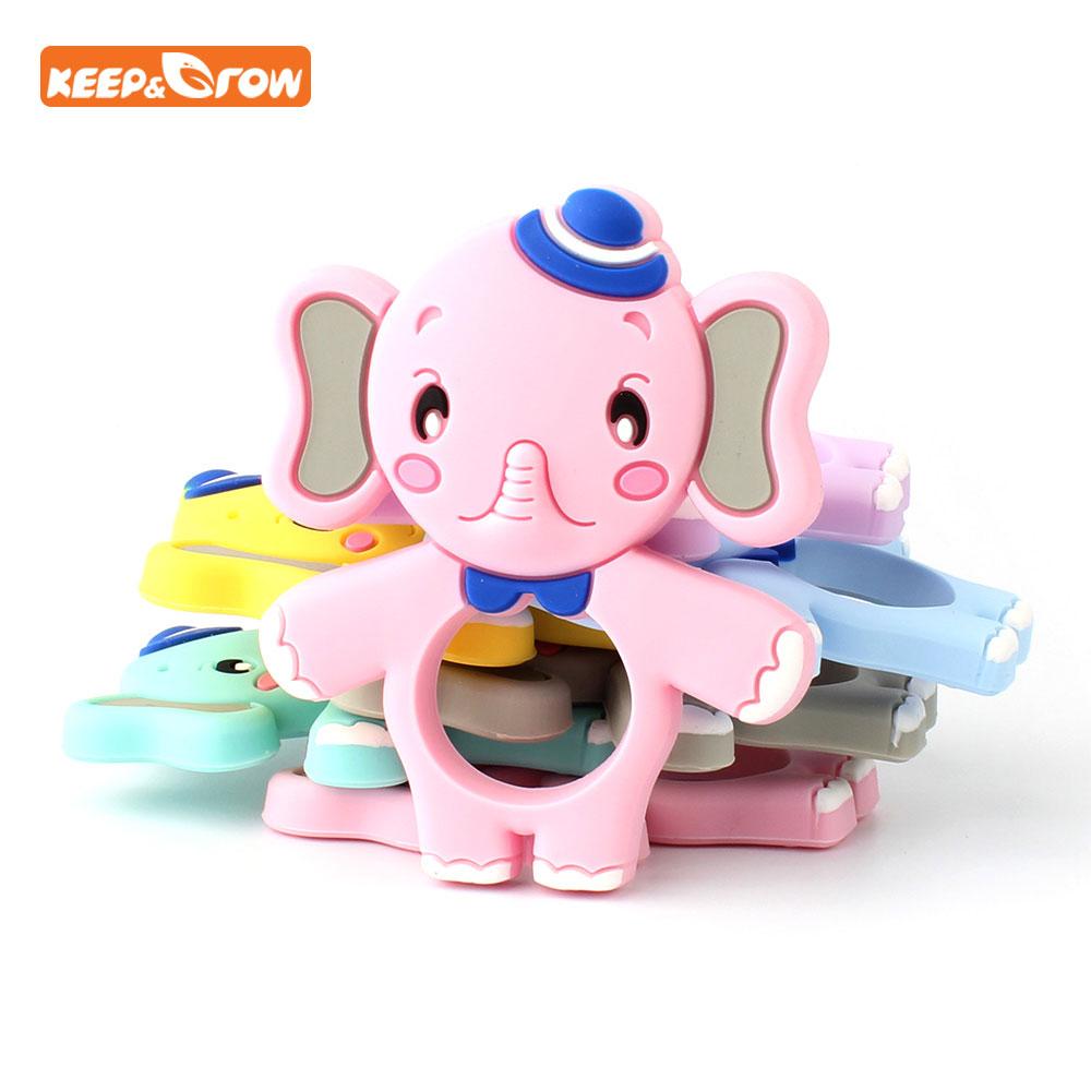 Keep&grow Newest Elephant Silicone Teether BPA Free Baby Nursing Teething Pendant Kid Gift Infant Teethers Animal Baby Products