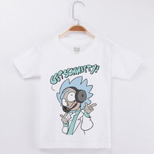 New Arrivals Kids Boy Fashion Cotton T-Shirt White Tee Shirts Rick And Morty Print Hipster Short Sleeve O-Neck Child Popular Top боденхамер б нлп большая книга эффективных техник