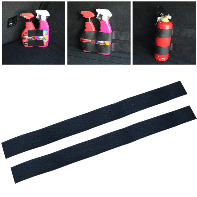 4Pcs Car Trunk Storager Vehicle SUV Rear Rack Car Tail Box Fire Extinguisher Fixing Belt Strap Car Stickers Car Accessories