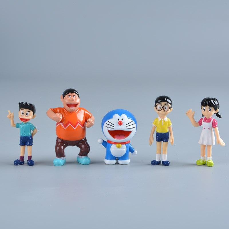 5 Pcs Lot Anime Kartun Lucu Doraemon Nobi Nobita Minamoto
