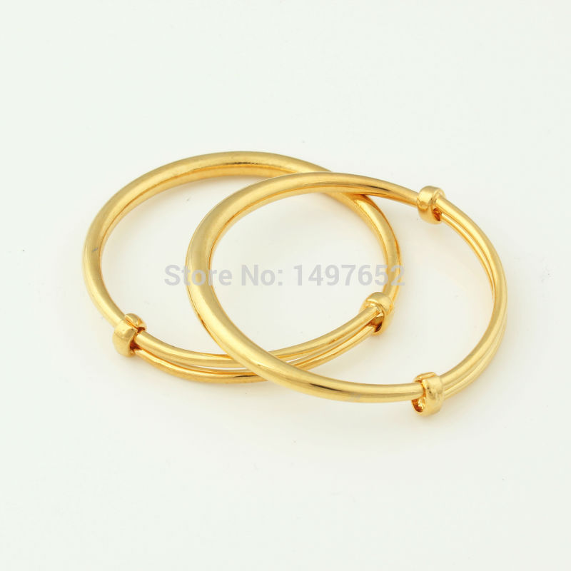 cec6770925e9 Fashion Dubai Gold Baby Bangle Jewelry For Boys Girls18K Gold Color ...