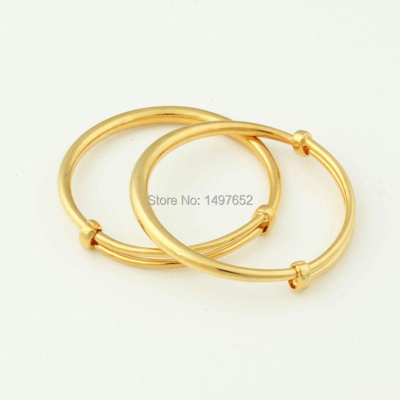 Fashion Dubai Gold Baby Bangle Jewelry For Boys Girls18K Gold ...