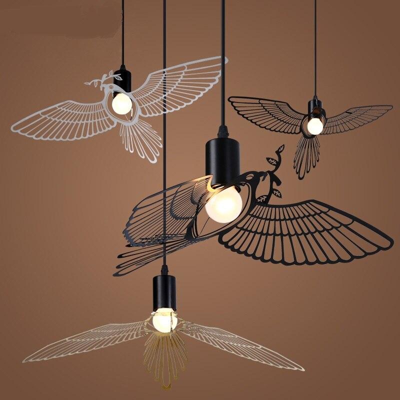 modern minimalist dining room Pendant Lights American creative personality children room study Flying Bird Pendant ZA ET25