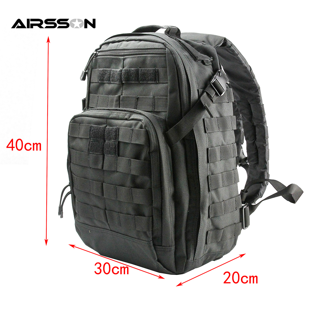 40L Tactical Molle Climbing Backpack Shoulder Bag Military Camping Hunting Bags Travel Outdoor Multifunctional Rucksack emersongear lbt2649b hydration carrier for 1961ar molle backpack military tactical bags hunting bag multicam tropic arid black