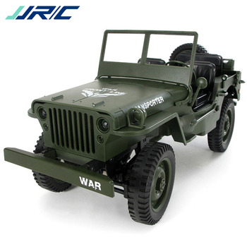 JJRC Q65 1:10 RC 2.4G 4WD Remote Control Convertible LED Light Jeep 4-Wheel Drive Off-Road Military Truck Climbing Car toys willys jeep 1 10