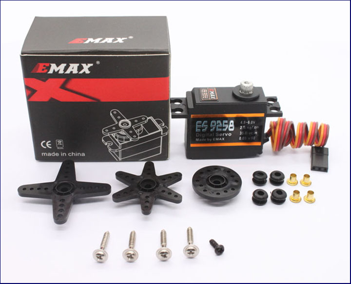 EMAX Model ES9258 RC Metal Digital Servo for 450 Helicopters Rotor Tail цена
