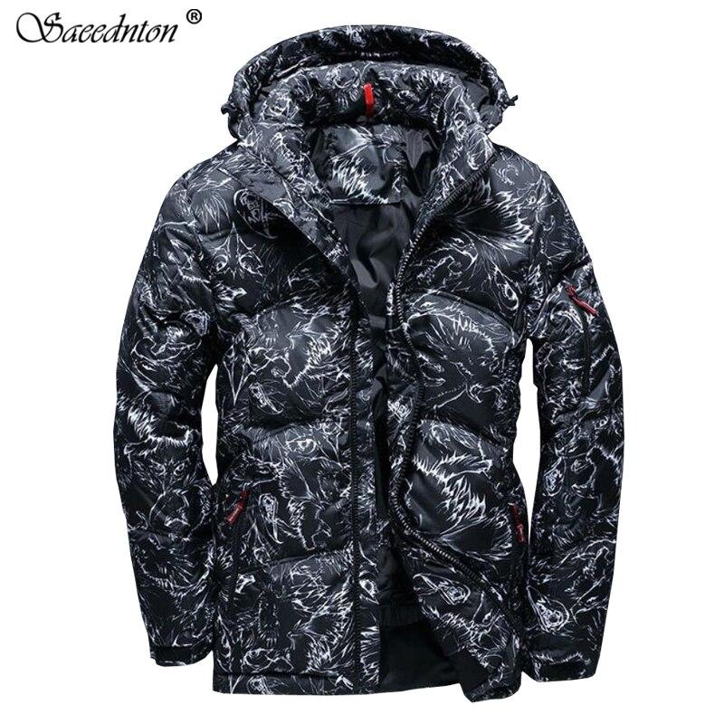 2019 haute qualité 90% blanc canard doudoune hommes manteau neige Parkas mâle chaud Camouflage vêtements hiver vers le bas veste d'extérieur