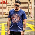 Big Size young man student code T-shirt fashion T-shirt printing of cotton elastic fat summer T-shirt tide