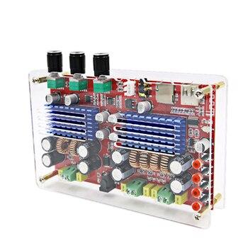 AIYIMA 60W*2+100W TDA3116 Bluetooth 2.1 Digital Amplifier Board High Power Amplifier Board TF Card Decoding DC12-24V With Case