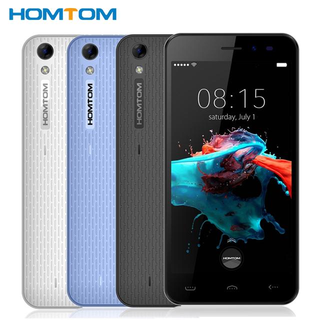 Original Homtom HT16 Teléfono Celular 1 GB RAM 8 GB ROM Quad Core MT6580 3000 mAh 5.0 pulgadas Cámara de 8MP Android 6.0 Smartphone
