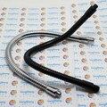 2 PCS Dia 6mm 10 15 20 25 30 CM Duas Cabeças M8 + M8 mangueira de metal da lâmpada Led gooseneck lâmpada da braçadeira de tubo de serpentina, tubo de metal flexível