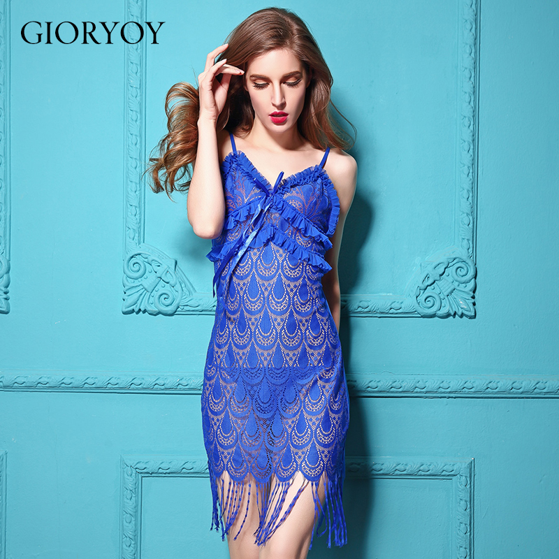 GIORYOY 2018 new  Sexy lingerie nightdress fringed skirt posing perspective temptation sexy lingerie ladies pajamas