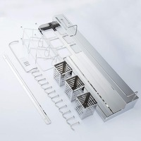 Stainless steel kitchen shelf Season rack Kitchen wall mounted storage gun rack Appliances 058