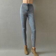 Мода женский 2016 aa высокой талией джинсовые брюки тонкий эластичный деним брюки карандаш брюки развивать нравственность ковбойские брюки