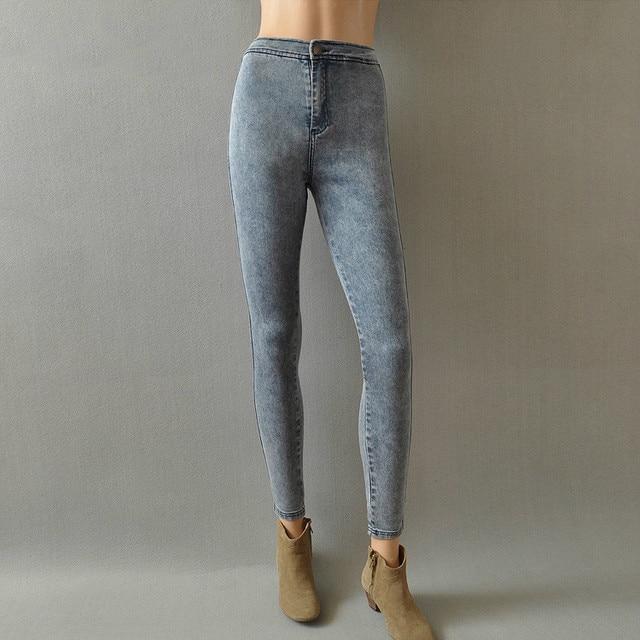 Fashion female 2016 aa high waist denim trousers slim elastic denim trousers pencil pants Cultivate one's morality cowboy pants