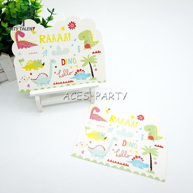 Party supplies 8pcs Dinosaur theme invitation card invitations for