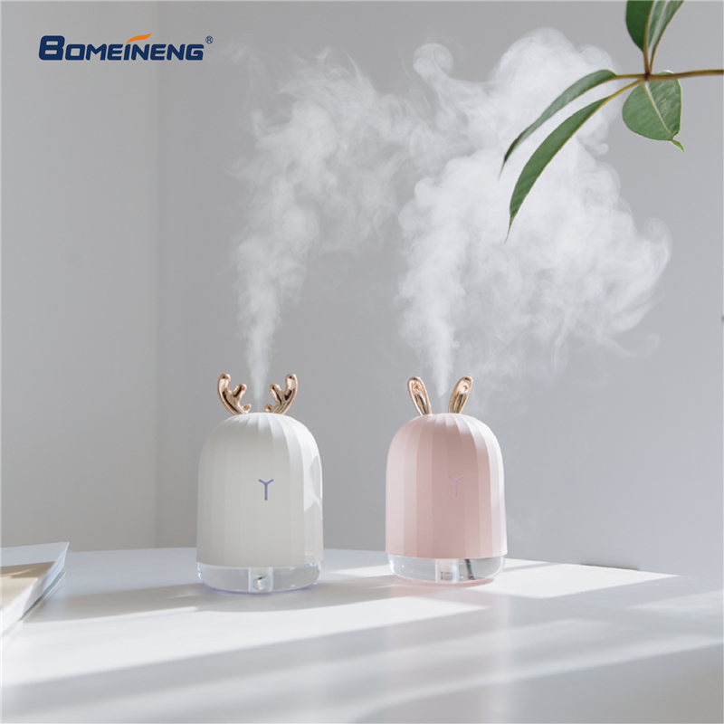 BOMEINENG 220ml White Deer Mini Air Humidifier Essential Oil Diffuser Aromatherapy Household Ultrasonic Humidifier Usb Diffusers bomeineng 220ml white deer mini air humidifier essential oil diffuser aromatherapy household ultrasonic humidifier usb diffusers