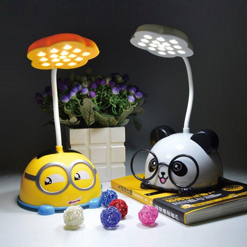 Творческий мультфильм USB зарядка ночник милые студентов настольная лампа светодиодный детская комната декоративные ночники