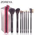 ZOREYA Brand Hot Selling Goat Hair 8pcs Brush Multifunctional Powder Blush Brush Free Shipping