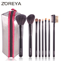 ZOREYA Marca Venta Caliente Cepillo de Pelo de Cabra 8 unids Multifuncional Powder Blush Brush Envío Gratis
