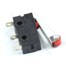OOTDTY J34 20 шт./лот Новый Micro Roller Lever Arm Нормально Открытый Закрыть Концевой Выключатель KW12-3 Горячая