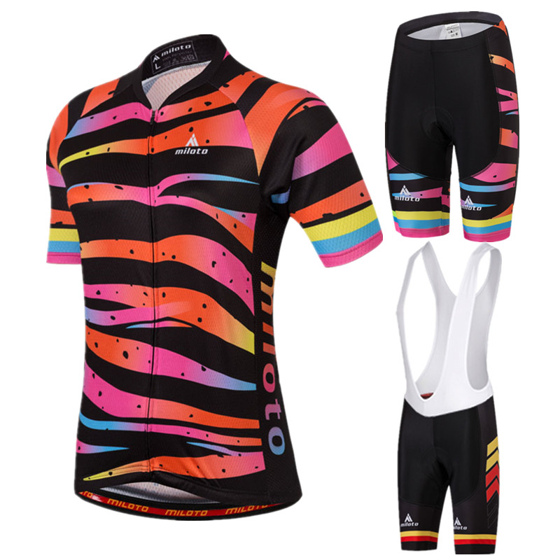 2017 MILOTO Women's Cycling Jersey Sets Short Sleeve MTB Bike Jersey Breathable Bicycle Clothes Ropa Ciclismo Cycling Clothing wosawe female mini skirt shirt ropa ciclismo cycling jersey sets breathable mtb bike clothing short sleeve clothes