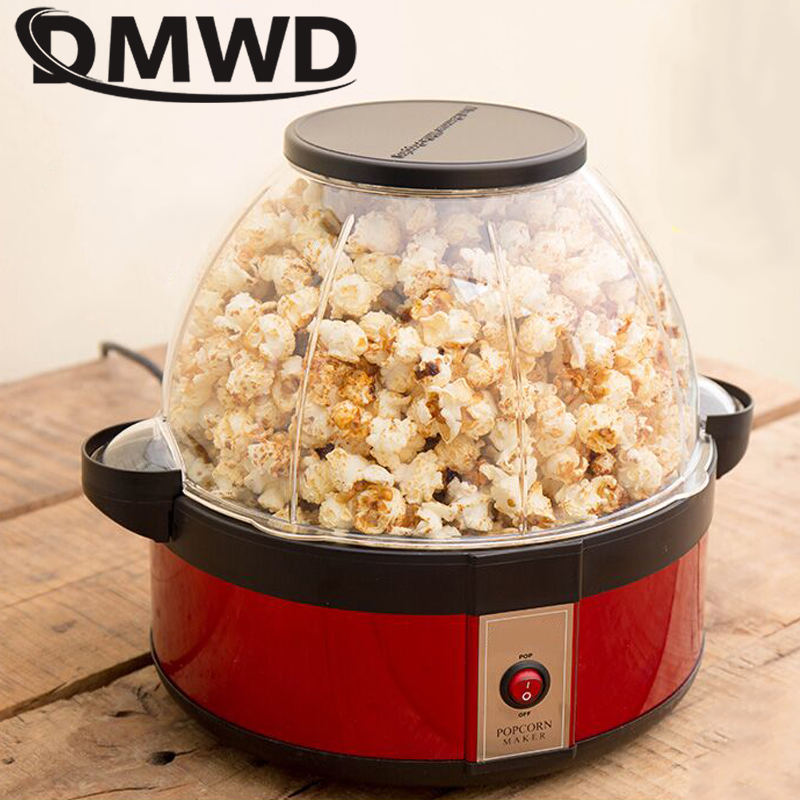 Mini household popcorn machine washable tray can add sugar in Halogen tube heat big capacity children's love suitable for party цена и фото