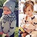 Algodón muchachas de los bebés ropa fijada otoño invierno ropa de los niños embroma la ropa