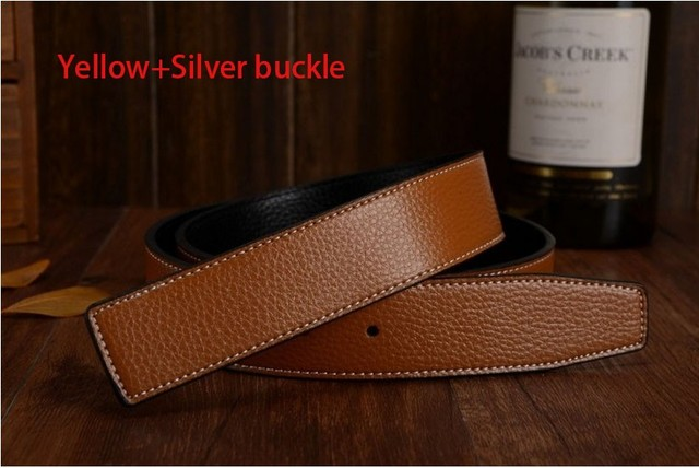2016 women high quality luxury belts brand H belts men first layer genuine leather copper buckle belts wtih original box card