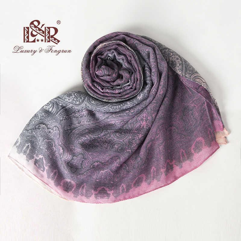 2018 190*100 センチメートル花バンダナ女性スカーフ絹のスカーフ女性のスカーフショールとラップ印刷シフォンヒジャーブ bufanda mujer 女性