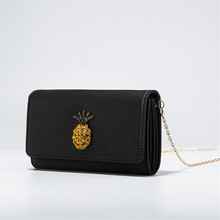 Women classic day clutch black fashion soft lady wallet and holder