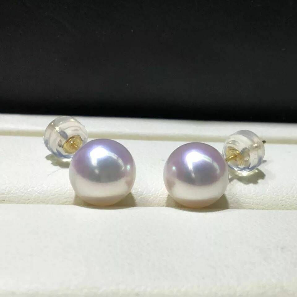 classic 10-11mm round white south sea pearl earring 18kclassic 10-11mm round white south sea pearl earring 18k