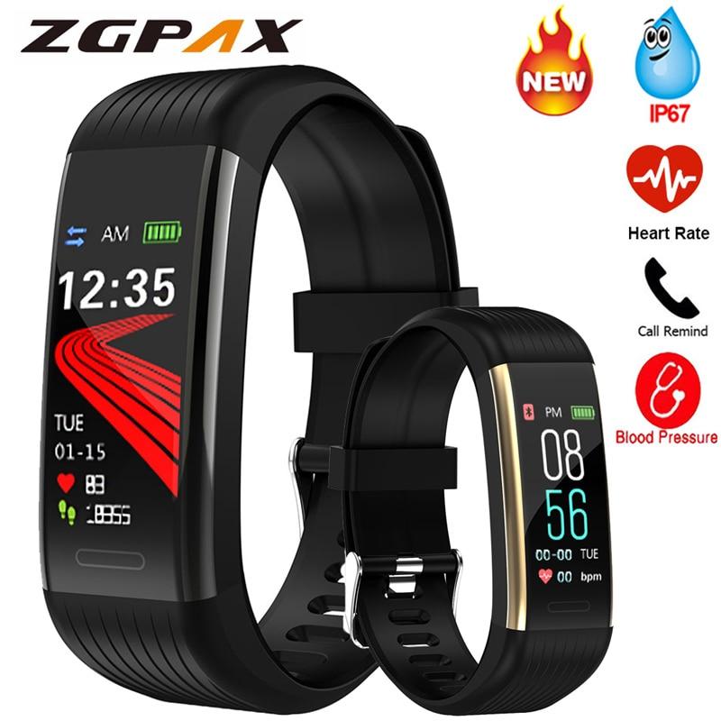 Bande intelligente mesure de la pression artérielle podomètre Fitness Tracker montre Bracelet intelligent femmes hommes étanche pour Android Ios Xiaomi