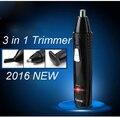 КМ-309 аккумуляторная 3in1 нос триммер для носа тримера электрический ухо чистого удаления волос волос в носу резак для Бровей триммер