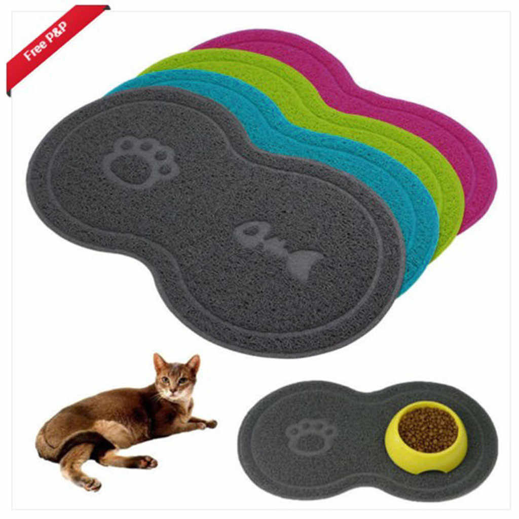 Pet Dog Puppy Cat Bowls Mat Rubber Feeding Pad Bed Dish Bowl Wipe Placemat Food Water Feeder Tool Non-slip Mats 45x25cm F1225