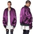 2017 NEW Best version similar VETEMENTS OVERSIZE purple MA-1 Men jacket HipHop Justin bieber winter Double sided jackets coat