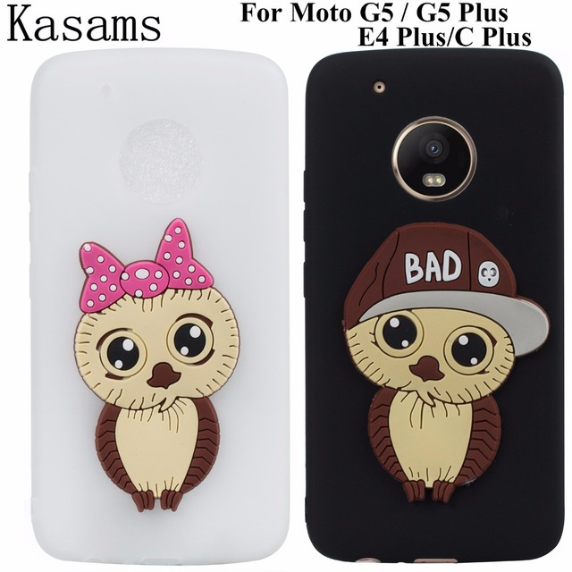check out 455a7 1d1b2 US $2.9 12% OFF|For Motorola Moto G5 Plus G5+ E4 Plus C Plus Phone Case 3D  Cartoon Owl Girl Boy Soft TPU Back Cover on For Moto G5 Capinha Funda-in ...
