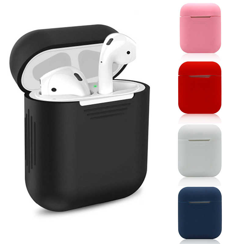 Silicone Case For Apple Airpods Protective Cover Pouch Earphone Case Accessory air pods ear Shock Absorption