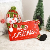 20pcWooden Merry Christmas Text Wall Door Window Hanging Ornaments Christmas Decoration Supplies For Home Xmas Decorative Sign